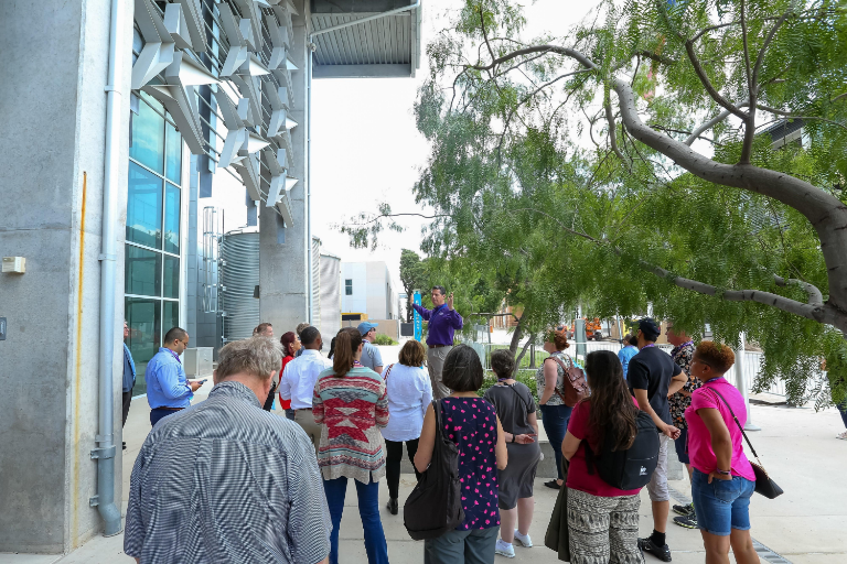 2019 NACUBO group tour_outside HLC