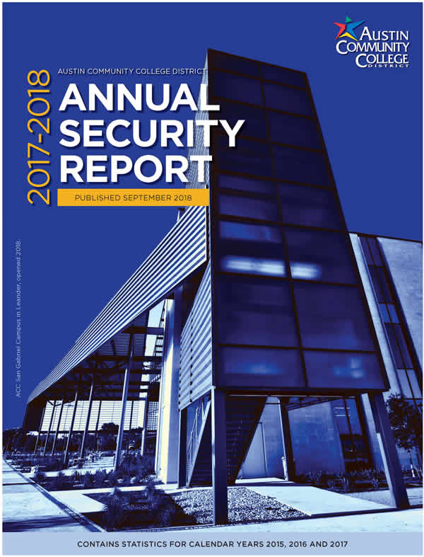 ACC Annual Security Report, 2017-2018