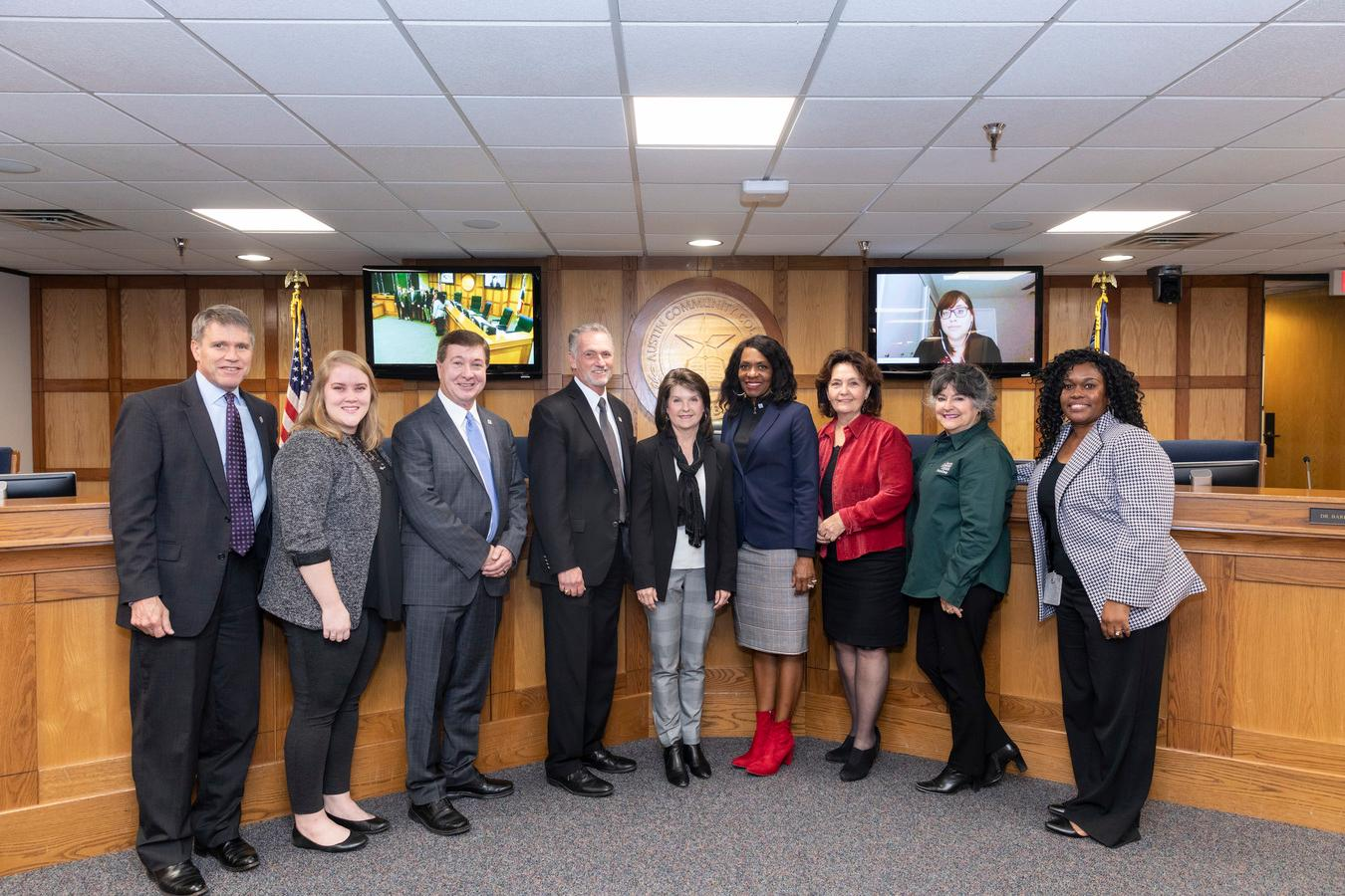 ACC Board of Trustees recognized Apple for its support of ACC's IT programs