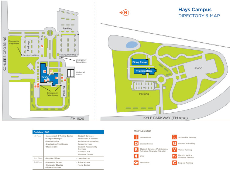 Campus Directory and Map