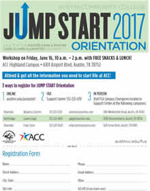 Jump Start 2017 Orientation