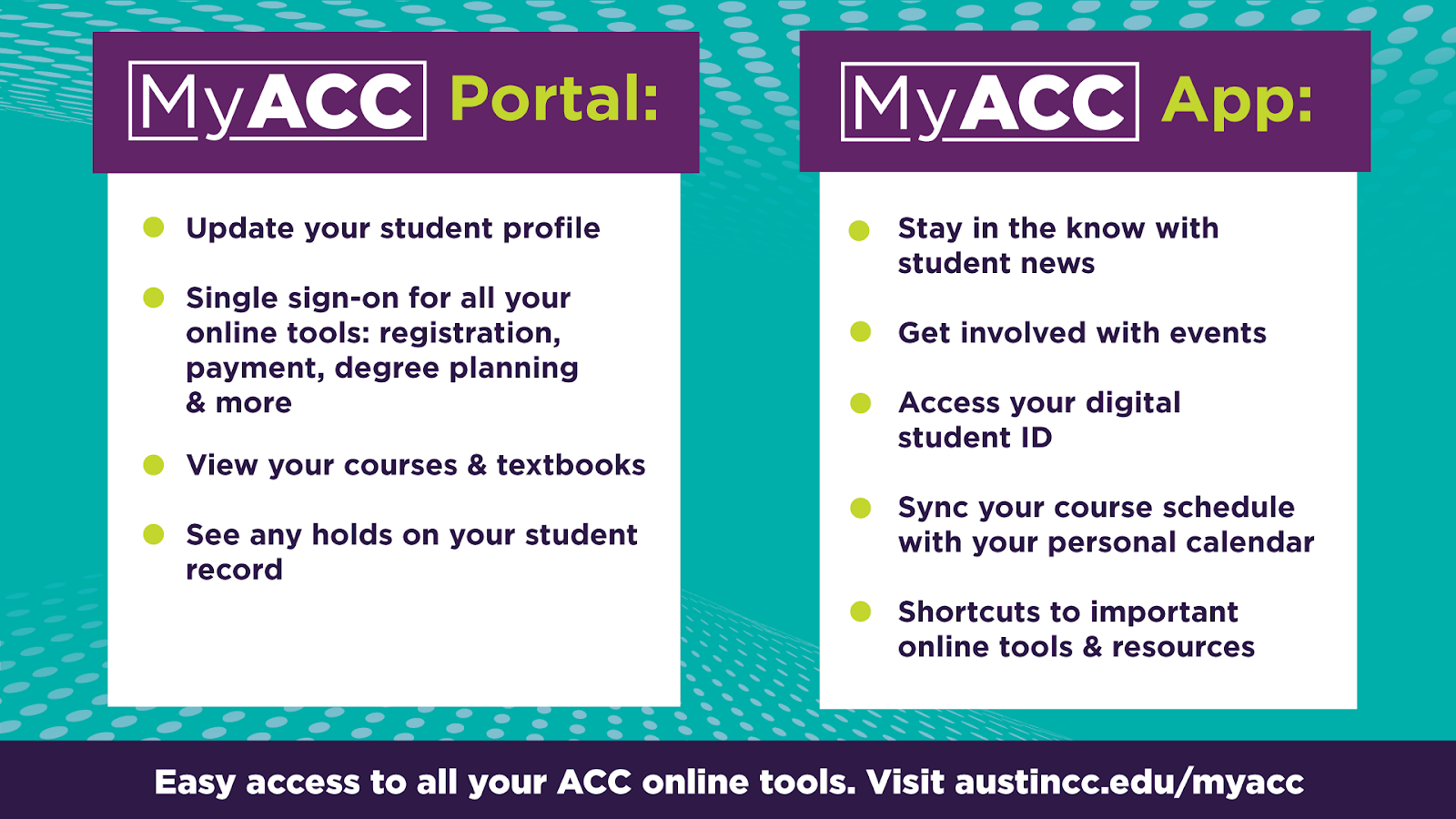 MyACC portal and app information