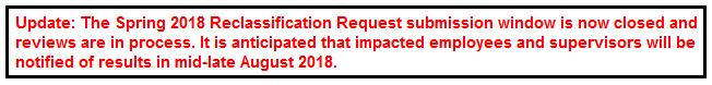 Spring 2018 Reclassification Notice