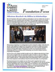 ACC Foundation Newsletter, Fall 2018