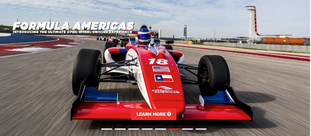 An advertisement for the Formula Americas series.