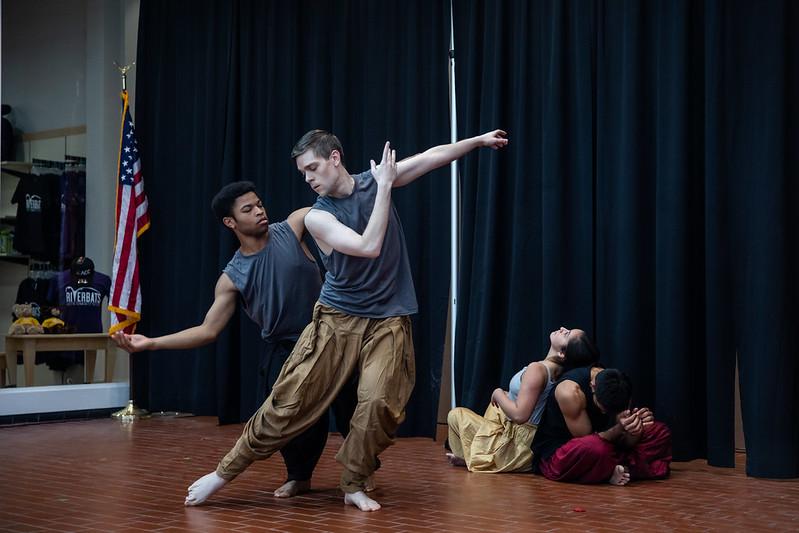 Kayur Patel, Dmo Acheka, Dani Bogle, and Philip Weaver deliver dance performance.