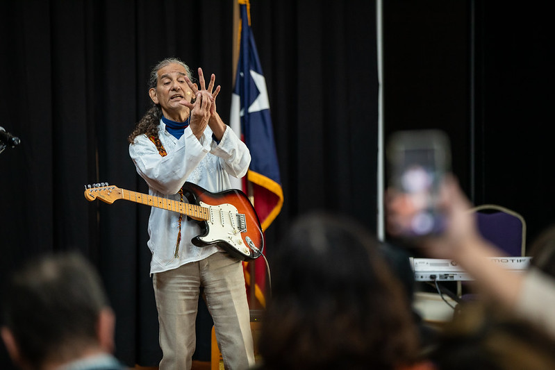 Daniel Llanes performs at National Day of Racial Healing.