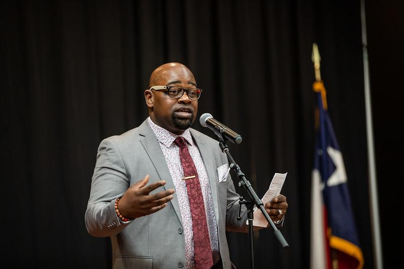 Khayree Williams close program for National Day of Racial Healing.