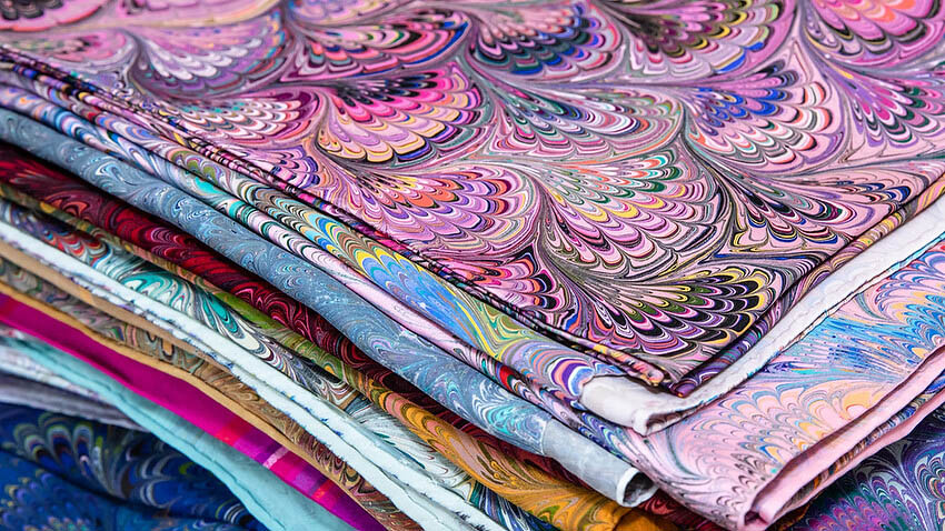 Fabric samples from the Fashion Incubator.