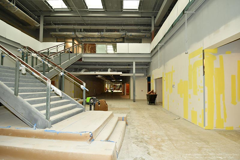 Highland Campus Phase 2 open stair area