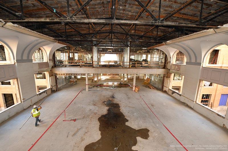 Rio Grande Campus historic renovations - atrium