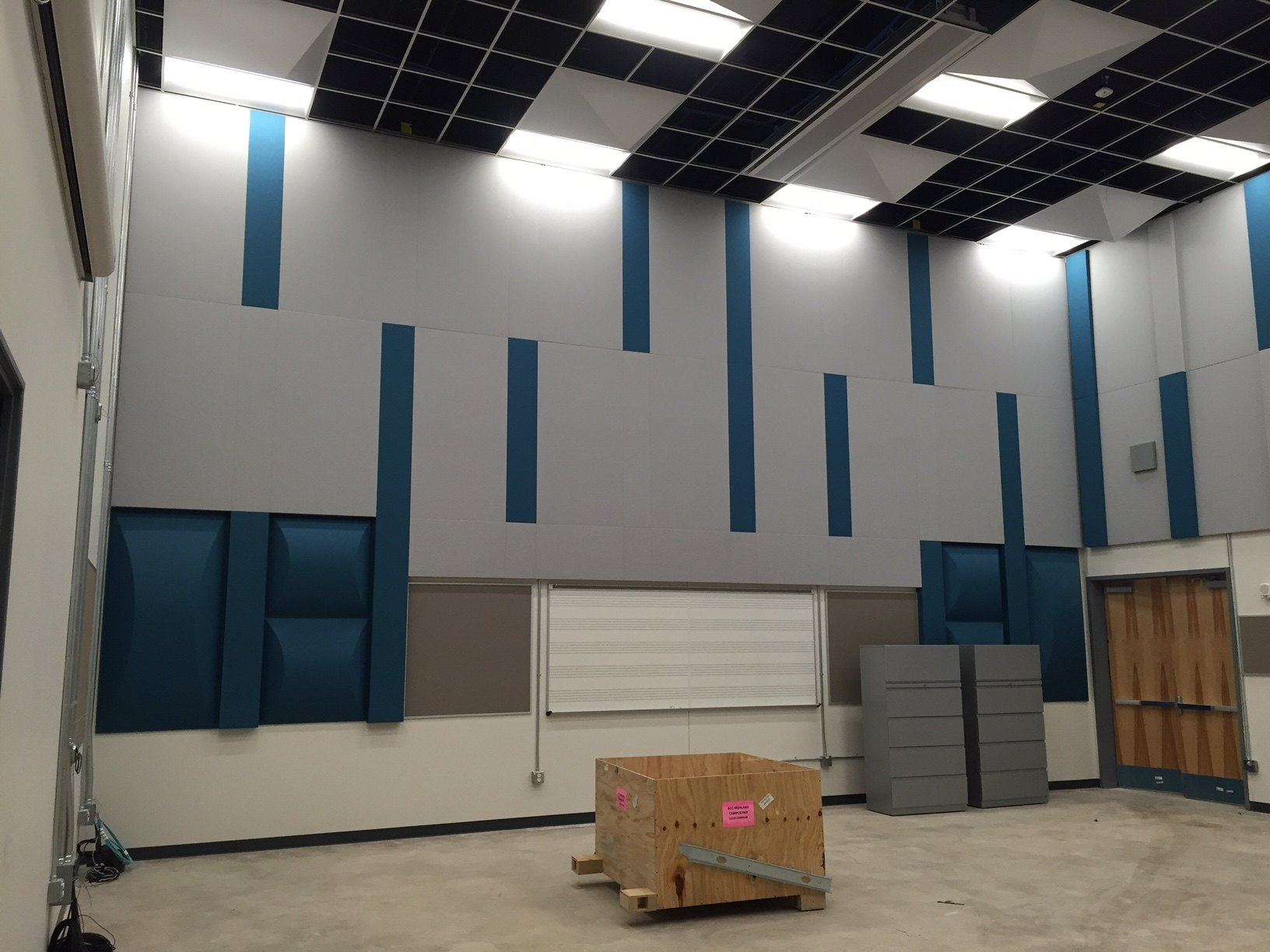 Highland Campus Phase 2 music rehearsal hall