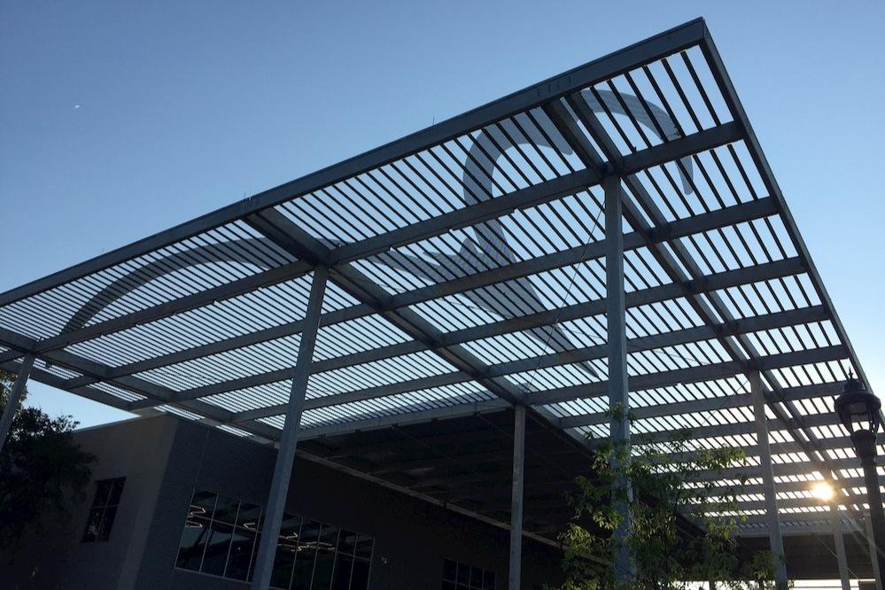 Highland Campus Phase 2 - Bat canopy at paseo