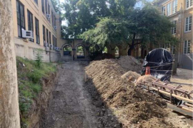 Rio Grande Campus Renovations - Began grading central courtyard