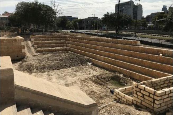 Rio Grande Campus South Courtyard Tillman Walls