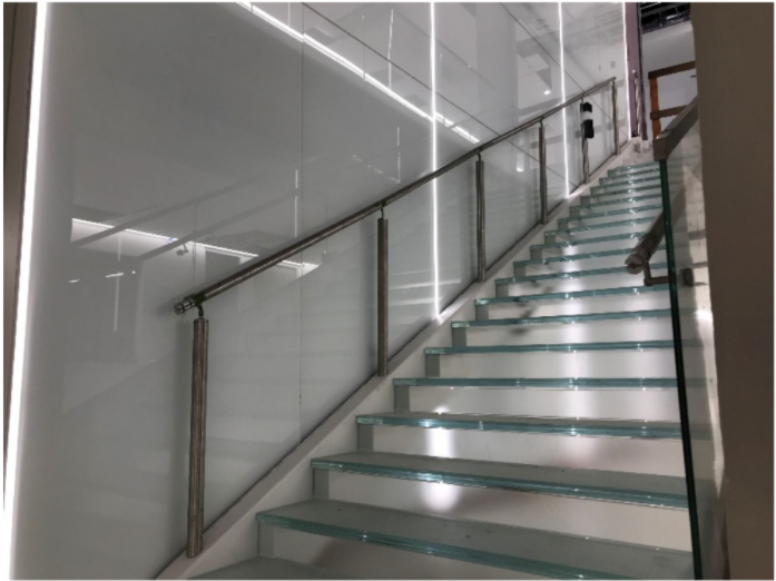 Rio Grande Campus Glass Stair Treads and Handrails
