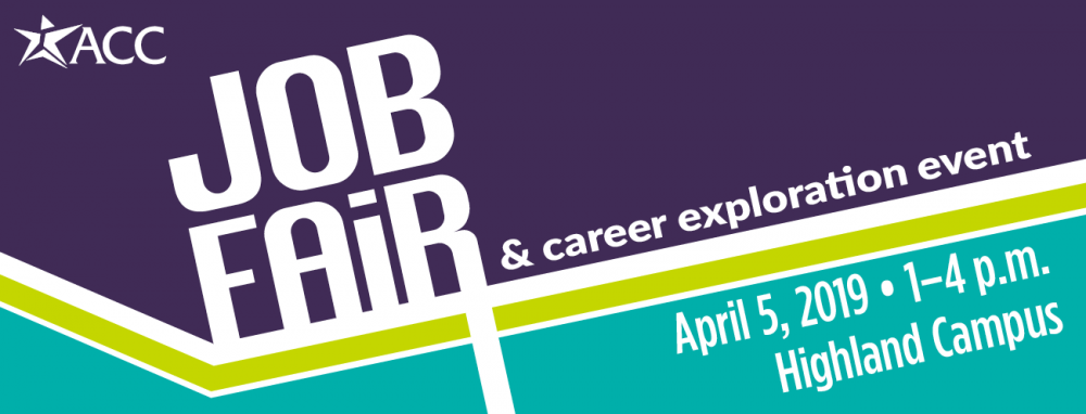 Job fair and career exploration event April 5, 2019 1-4 p.m. at Highland Campus
