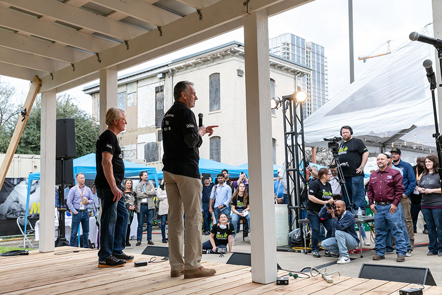 ACC President/CEO Dr. Richard Rhodes and Roy Spence give a speech at the skill-up event during SXSW 2019.