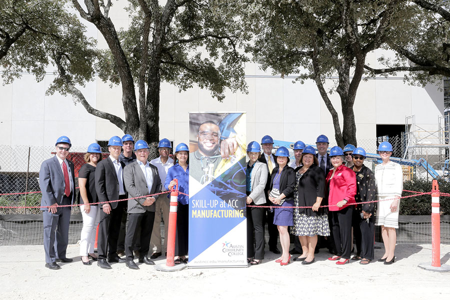 ACC's Manufacturing Incubator ground breaking ceremony.