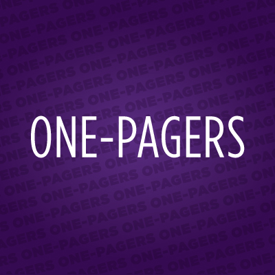 One-pagers