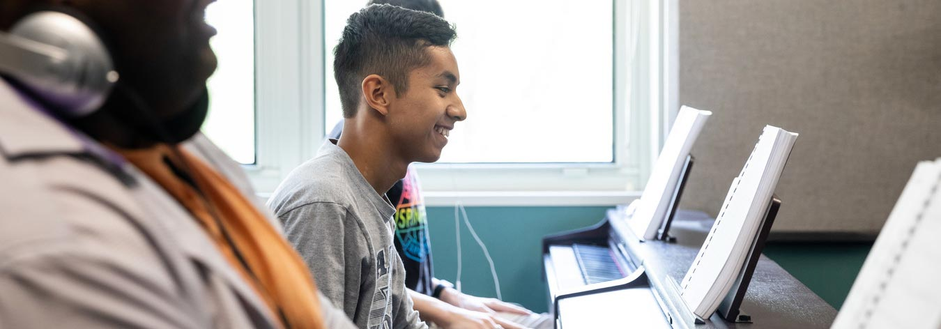 Piano class taught by ACC Associate Professor