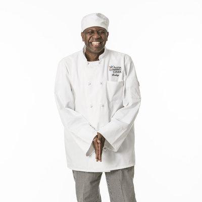 Culinary student posing