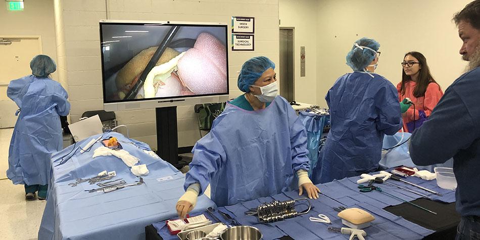 A medical procedure demonstration at ACC Fest 2019.