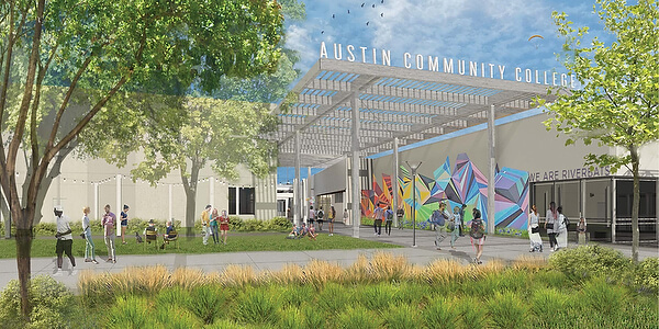 Artist rendering of campus.