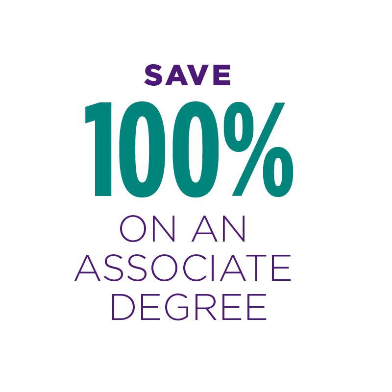 Save 100% on an Associate degree