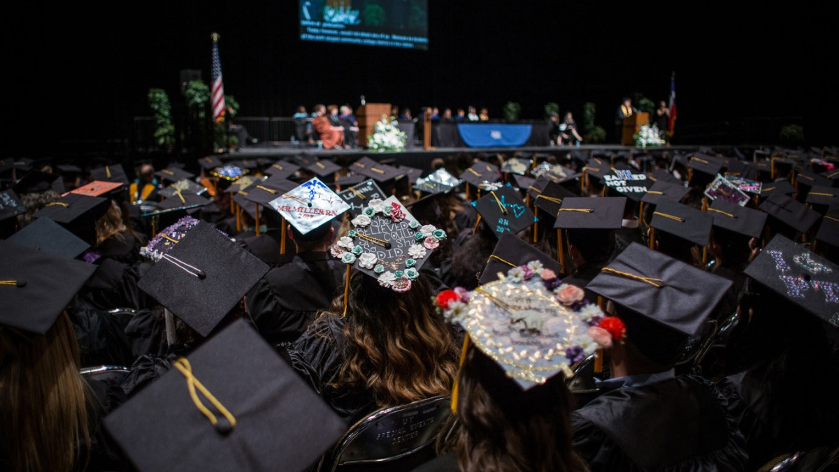 Austin Community College Spring Commencement ceremonies at the Frank Erwin Center on Thursday, May 11, 2017.