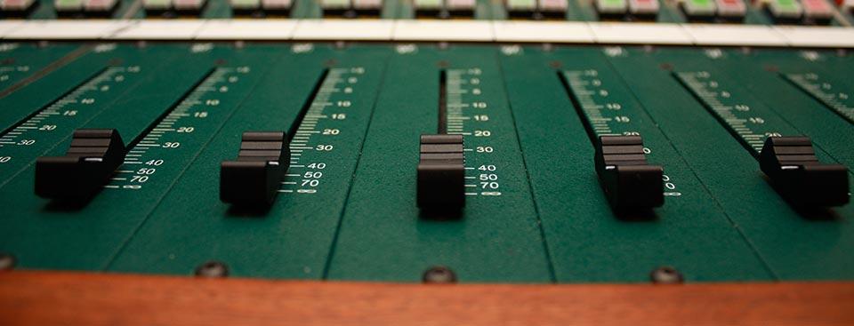 A sound mixer.