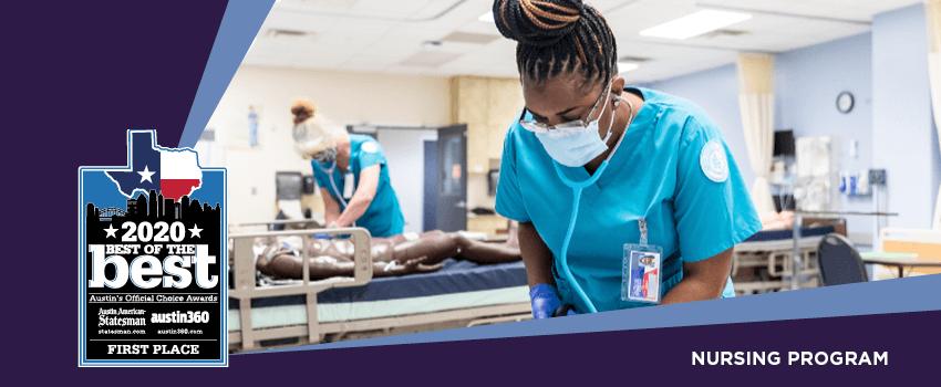 2020 Best of the Best, Nursing program, first place.