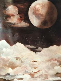 Adrienne Hodge, Artwork, Painting, Moon