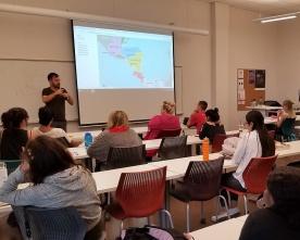Ariel Brenens Rodriguez visit ACC class