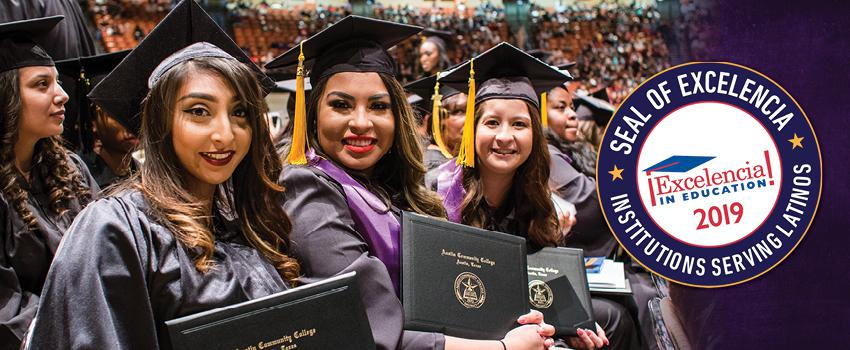 2019 Seal of Excelencia - Institution serving Latinos from Excelencia in Education!