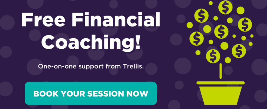 Free financial coaching! One-on-one support from Trellis. Book your session now.