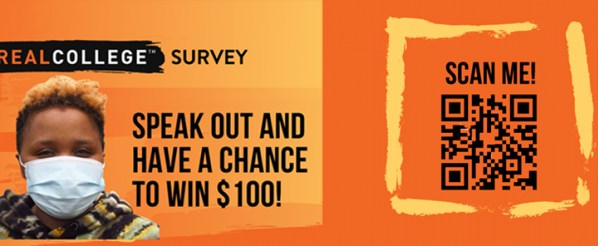 #Realcollege survey: Speak out and have a chance to win $100