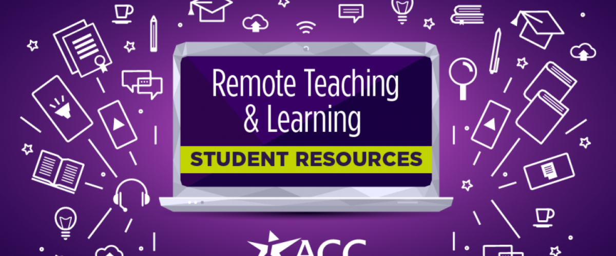 Remote teaching and learning student resources.