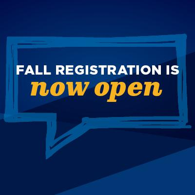 Fall Registration is Open