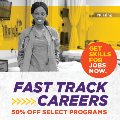 Fast Track Careers. Get skills for jobs now. 50% off select programs