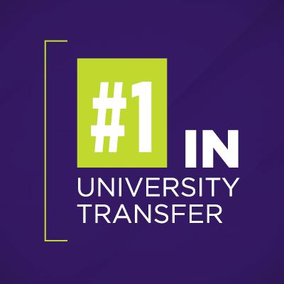 #1 in University Transfer