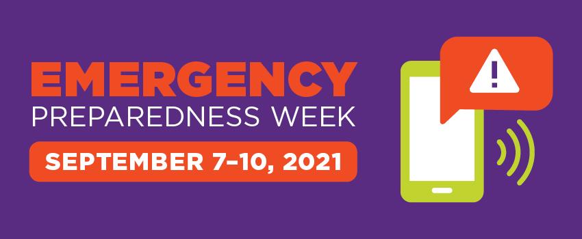Emergency Preparedness Week - Fall 2021 semester