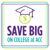 Save big on college graphic