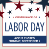 Labor Day Closure Graphic
