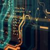 Conceptual web coding image of computer mainframe interior